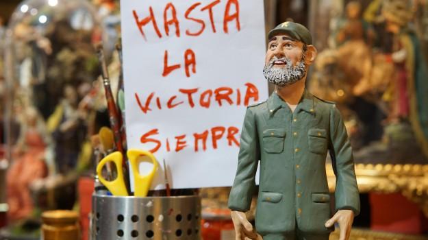 statuetta napoli, Fidel Castro, Sicilia, Mondo
