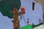 Via la discarica, all'Albergheria il murales colorato dei bimbi - Video