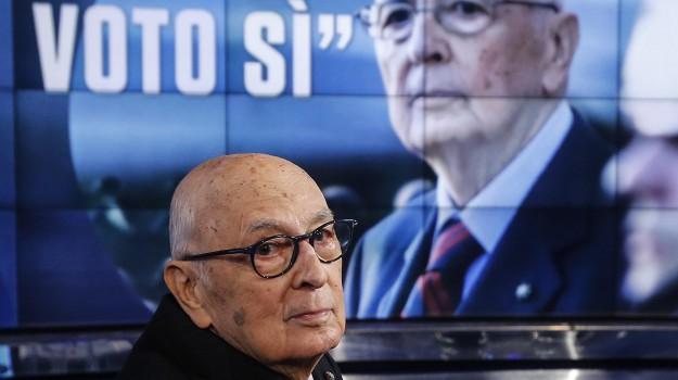 presidente emerito della Repubblica, referendum, riforma costituzionale, Giorgio Napolitano, Sicilia, Politica