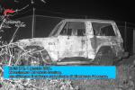 L'auto bruciata con all'interno il cadavere di Francesco Giambanco