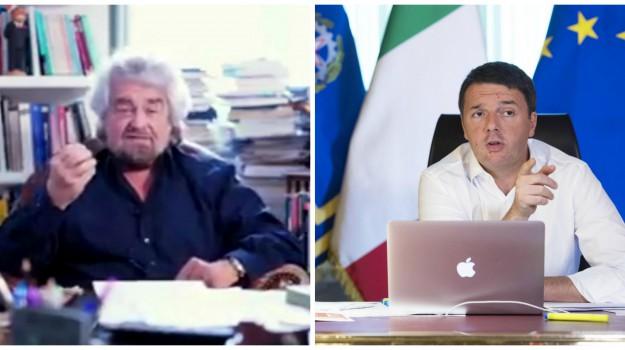 premier, referendum. m5s, Beppe Grillo, Matteo Renzi, Sicilia, Politica