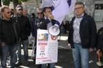 Un momento del sit in contro la Ztl a Palermo