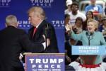 Meno 2 al voto: ondata di elettori ispanici per Hillary. Paura per Trump: portato via dal palco
