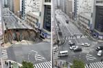 Riapre la strada collassata a Fukuoka, la voragine riparata in 48 ore