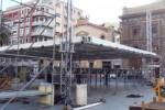Notte di Capodanno in piazza: operai al lavoro al Politeama - Video