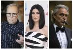 Ennio Morricone, Laura Pausini e Andrea Bocelli in corsa ai Grammy