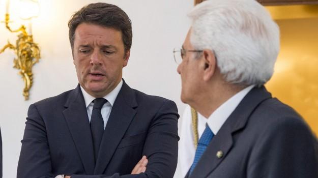 elezioni anticipate, governo, Matteo Renzi, Sergio Mattarella, Sicilia, Politica