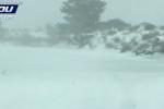Temperature in calo in tutta la Sicilia: le immagini della bufera di neve sull'Etna - Video