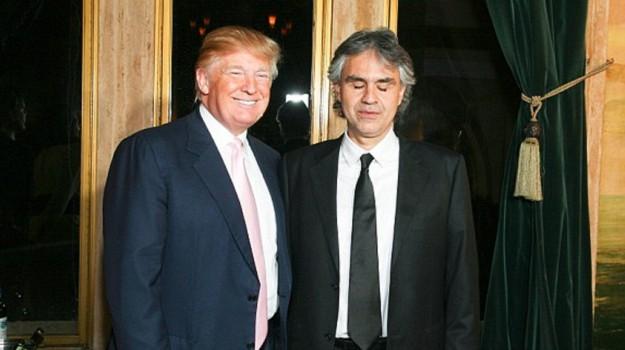 giuramento trump, Andrea Bocelli, Donald Trump, Sicilia, Mondo