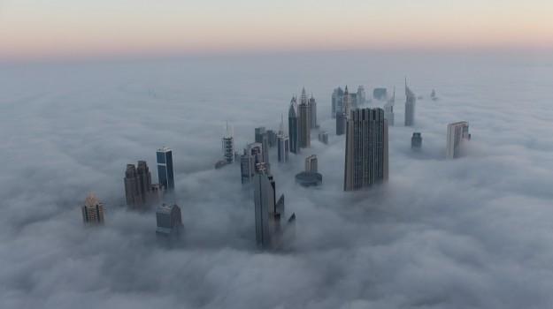 emirati arabi, nebbia, Sicilia, Mondo