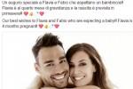 L'annuncio su Facebook di Fabio Fognini e Flavia Pennetta