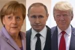 Angela Merkel, Vladimir Putin e Donald Trump