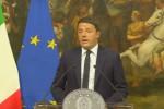 """""""Ho perso: questo Governo finisce qui"""": il video delle dimissioni di Renzi"""