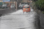 Le strade allagate nel quartiere San Giovanni Galermo a Catania