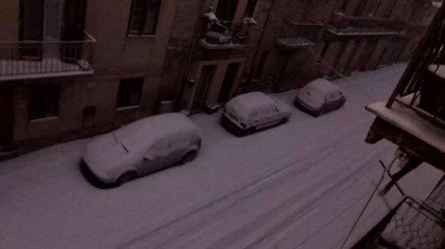 Maltempo, neve palermo, strade ghiacciate, Palermo, Cronaca