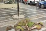 Capo d'Orlando, raid vandalico nell'isola pedonale
