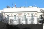 Una veduta esterna dell'ambasciata italiana a Tripoli