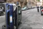 Palermo, auto si ribalta: ferito il conducente
