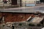 Maltempo a Balestrate, crolla parte del belvedere