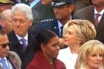 Bill Clinton guarda Ivanka Trump... ma Hillary non apprezza - Video