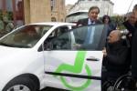 Leoluca Orlando presente il car sharing per disabili
