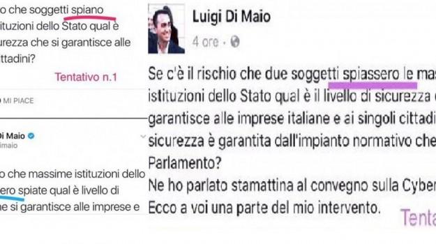 di maio congiuntivi, m5s, Luigi Di Maio, Sicilia, Politica