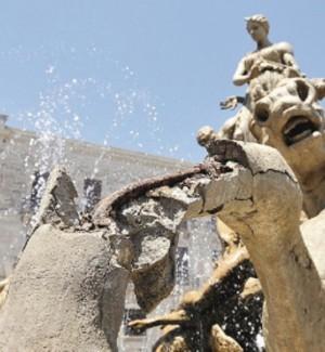 Ad Ortigia finito il restauro della fontana di Diana