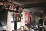 Nubifragio nel Belice: fulmine incendia garage a Castelvetrano