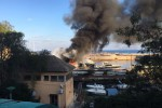 Incendio al porticciolo dell'Arenella, in fiamme due barche - Video