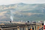 Il tir in fiamme sull'A19, tra Enna e Caltanissetta