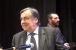 Leoluca Orlando all'apertura della campagna elettorale a Palermo