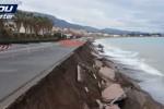 Il lungomare di Sant'Agata distrutto dalle mareggiate: le immagini