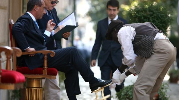 lustrascarpe palermo, sciuscià, Palermo, Economia