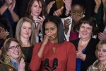 Il discorso finale del'uscente first lady Michelle Obama - Ansa