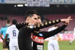Jose' Callejon del Napoli festeggia l'1-0 contro la Fiorentina - Ansa