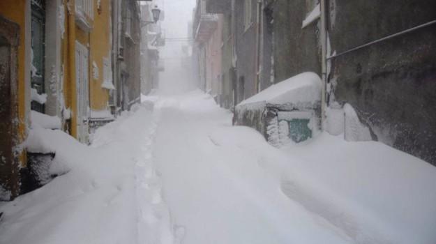 Maltempo, neve, san fratello, san teodoro, Messina, Cronaca
