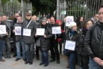 Una protesta dei lavoratori Almaviva