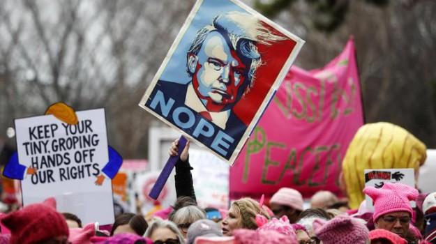 protesta anti-trump, Stati Uniti, Donald Trump, Sicilia, Mondo