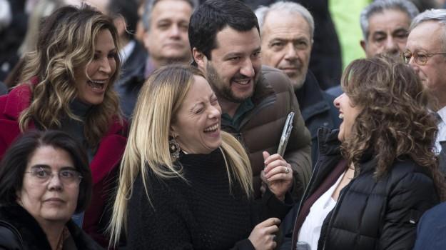 centrodestra, fratelli d'italia, italia sovrana roma, Lega Nord, Giorgia Meloni, Matteo Salvini, Sicilia, Politica