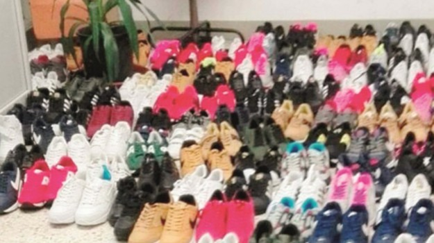 contraffazioe, scarpe, Catania, Cronaca
