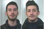 Gli arrestati: Domenico Lo Verso e Giuseppe Pandolfini