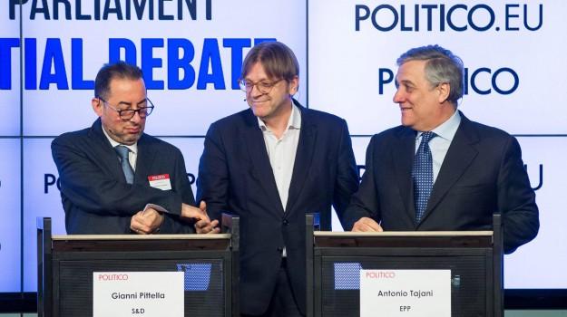 elezioni presidente parlamento europeo, Parlamento europeo, Antonio Tajani, Gianni Pittella, Sicilia, Politica