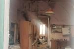 L'interno dell'edificio crollato in via Romagna a Ravanusa