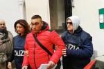 Cocaina nella Palermo bene: l'uscita degli arrestati dalla squadra mobile