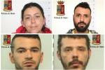 I quattro arrestati nell'operazione Pusher a Ragusa