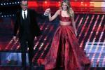 Sanremo, Diletta Leotta sexy in rosso canta i Ricchi e Poveri