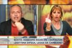 Scoppia la lite, in tv il dito medio della Mussolini ad un blogger del M5S