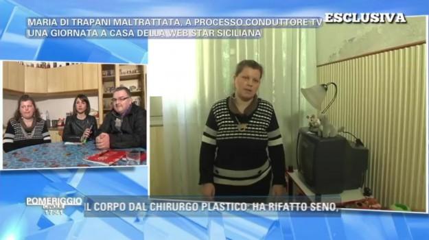 Maltrattamenti, pomeriggio 5, Barbara D'Urso, Maria di Trapani, Trapani, Cronaca