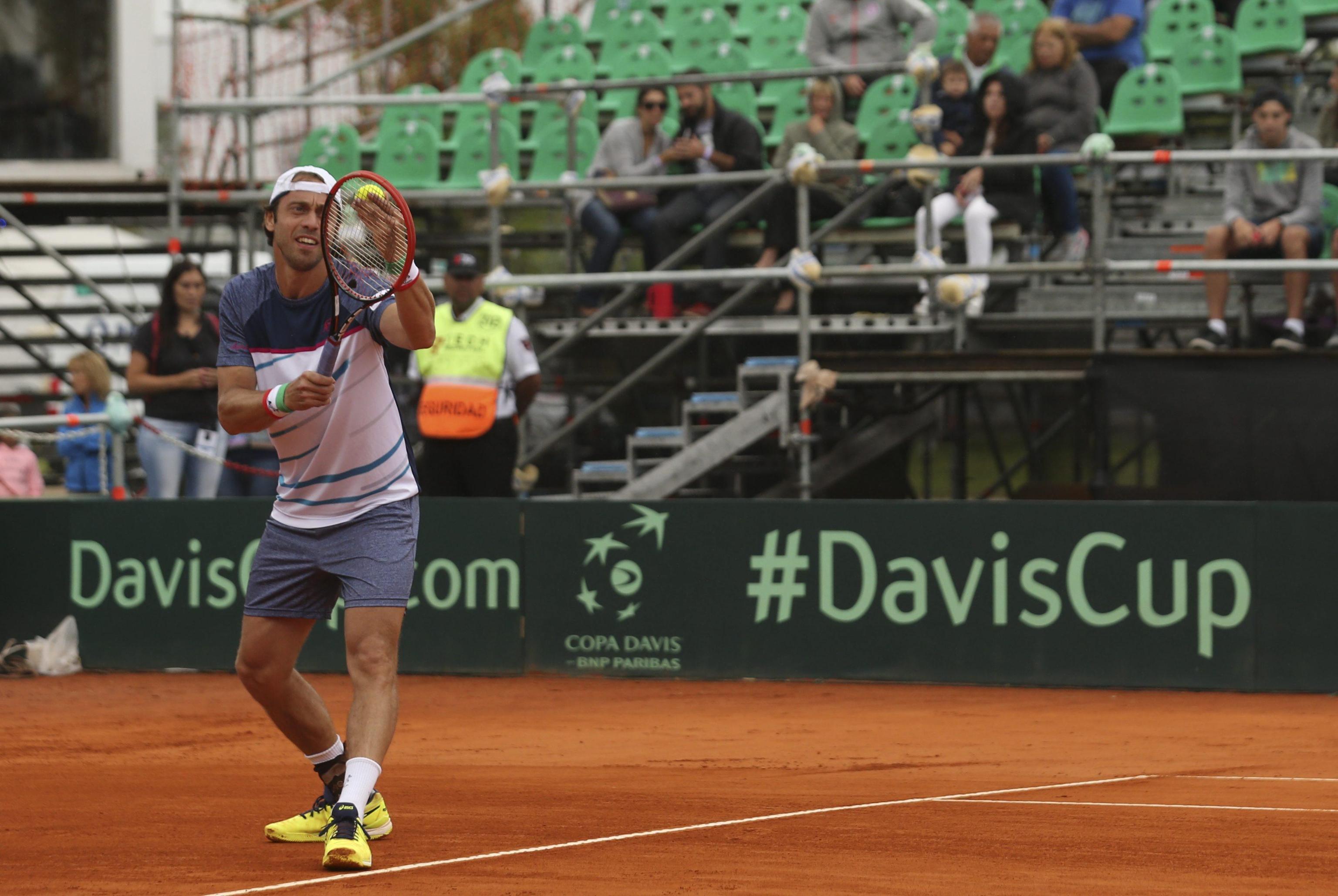 Copa Davis 2017: Guido Pella cayó sin atenuantes e Italia