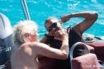 Richard Branson e Barack Obama a lezione di kite (fonte Facebook)